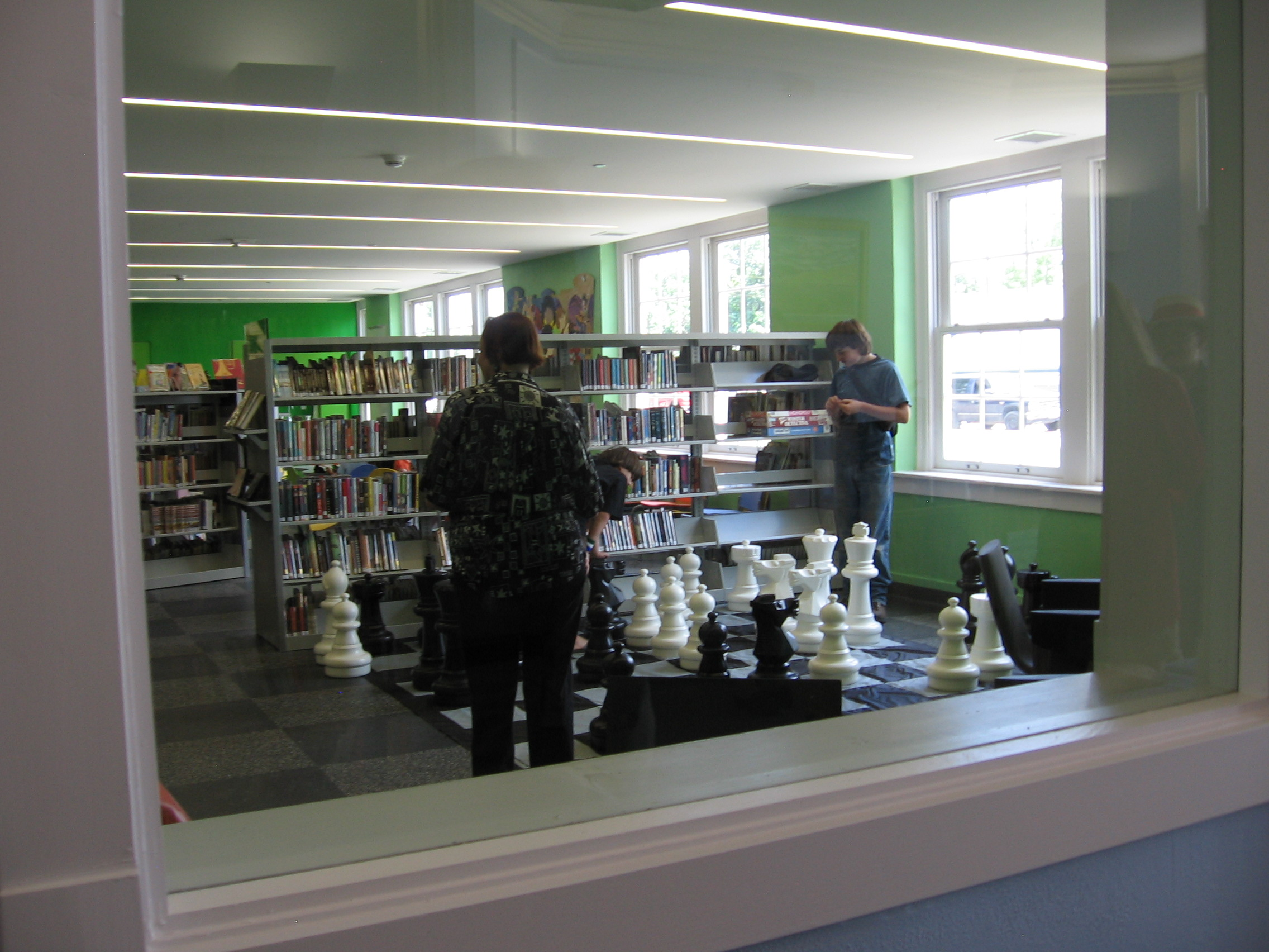 The view into the children's library