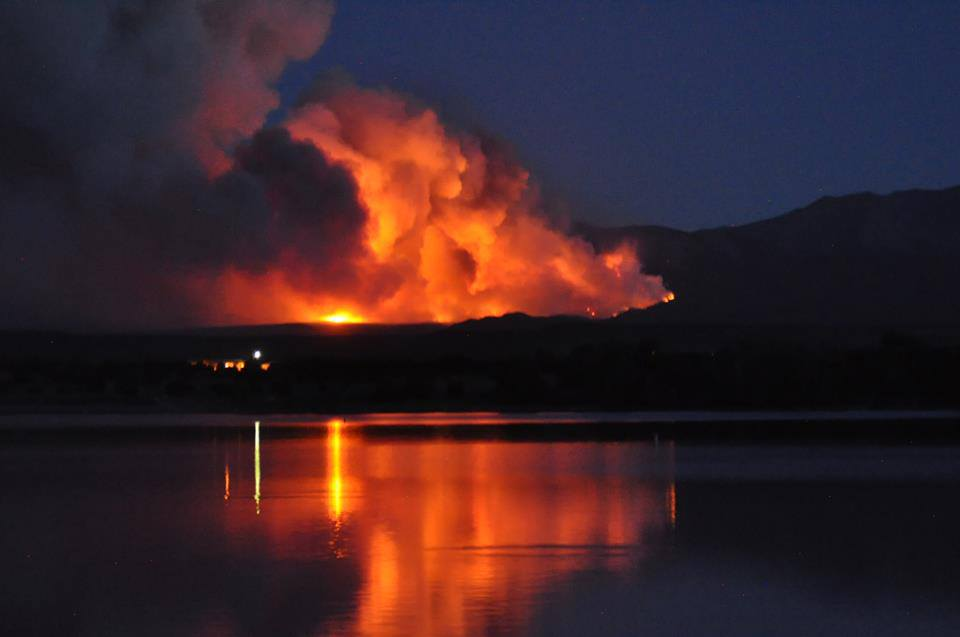 Fire from Lathrop State park